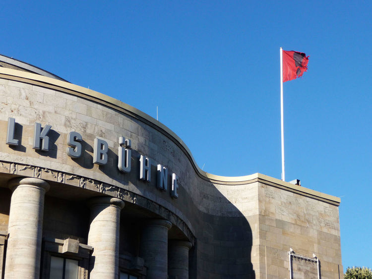 2013 Architecture Berlin Berlin Mitte Building Building Exterior City Clear Sky Culture Day Exterior Flag Historic History I Love My City July Old Buildings Outdoors Sky Streetphotography Theater Volksbühne