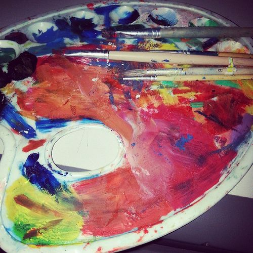 My palette ♥! Messiness Paint Brush Art me colors