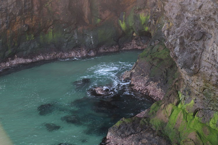 Carrick A Rede Coast Northern Ireland Beauty In Nature Day Geology Nature No People Outdoors Physical Geography Rock - Object Rock Formation Scenics Sea Tranquil Scene Tranquility Travel Destination Water