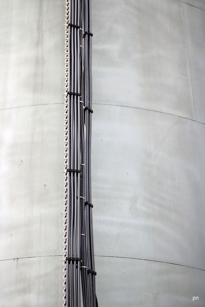 Backgrounds Black Chain Day Full Frame Low Angle View Modern No People Outdoors Pipes Polypipe Repetition Straight Watertank