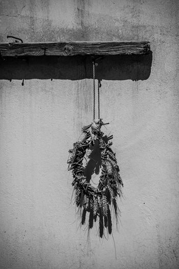 Monochrome Photography Hanging No People Man Made Object Tranquility Blackandwhite