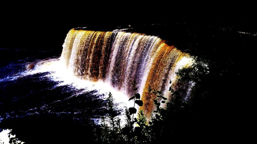 Waterfall Waterfall #water #landscape #nature #beautiful Tahquamenon Falls Tahqamenon Falls State Park