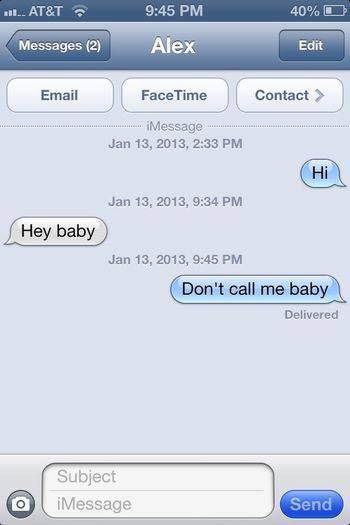 Who The Heck He Calling Baby