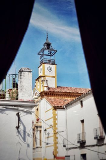 // Señora de la Estrella _ Lady of the Star // © Imarchi Photo (http://www.imarchi.com) // Architecture Built Structure Building Exterior Building Tower Sky Place Of Worship Religion Belief Nature Spirituality Low Angle View No People Day Clock Tower Blue Sunlight Clock Spire