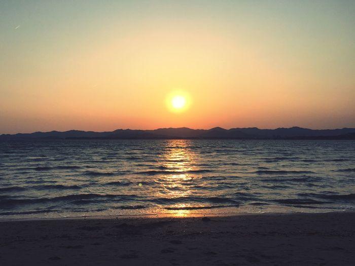 Lake Hamana Beautiful Calm The Mind Sunset Nice Calm Sea Sea Smell Love