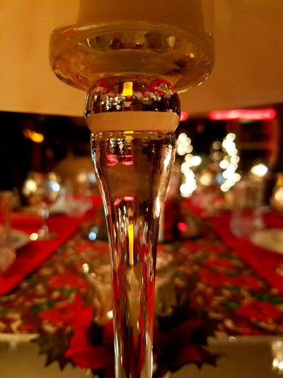 Twysted Elegance Red Close-up Dinner Party Drinking Glass Nightlife Christmas Decoration Christmas Time Glass House Candlelight Low Angle View Lowlightphotography Classy Elégance Romantic❤ Place Settings Cheers No Filtrer Favoritethings