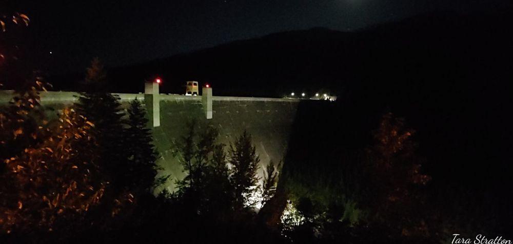 Man-made Structure NightTimePhotography Dam Tree Sky