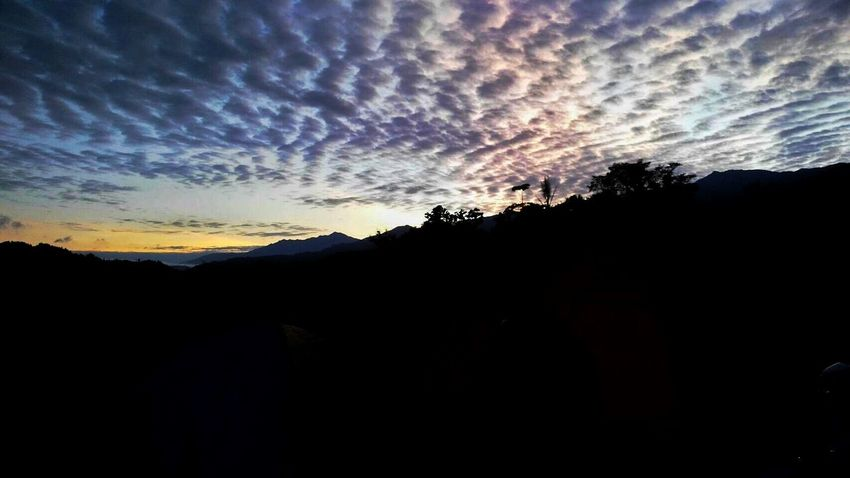Beauty Artistic Nature Clouds And Sky Aurora Light And Shadow INDONESIA Mountain Silhouette Enrekang Baraka