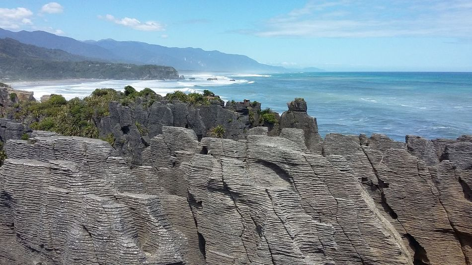 Pancake Rocks in Punakaiki New Zealand. Nature Travel Destinations New Zealand Beauty New Zealand Pancakerocks Beauty In Nature Water Punakaiki Rocks And Sea No Filter EyeEmNewHere EyeEmNewHere EyeEm Landscape EyeEm Nature Lover EyeEm Best Shots - Nature EyeEm EyeEm Gallery New Zealand Scenery New Zealand Landscape New Zealand Coast