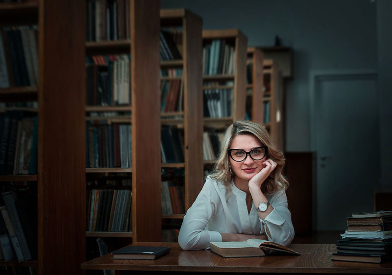 Book Education Eyeglasses  Homework Learning One Woman Only Only Women People Student Studying Women Young Adult
