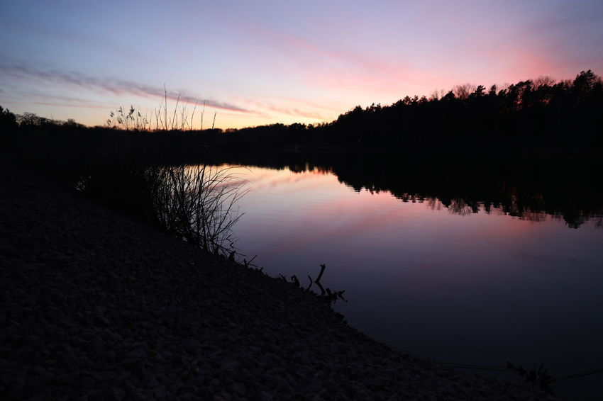 Beauty In Nature Day Dusk Lake Nature No People Outdoors Reflection Scenics Silhouette Sky Sunset Tranquil Scene Tranquility Travel Destinations Tree Water