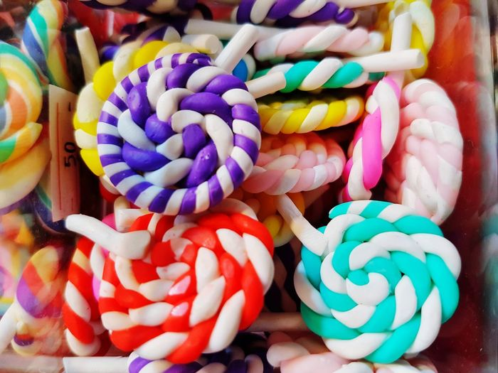 Sweet candy Colorful Multi Colored Candy Close-up Sweet Food Food And Drink Dessert Candy Store Candy Cane