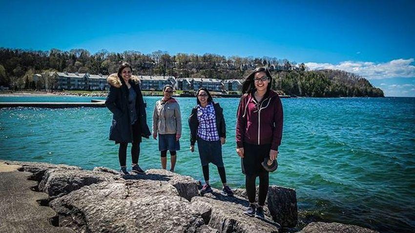 Doorcounty BirthdayWeekend Sisterbay Sisters FavPic Morephotos LoveThem  Loveus Memories Beach Rocks Fun Samsung Photography Wisconsin Windy Lake Blue Sky