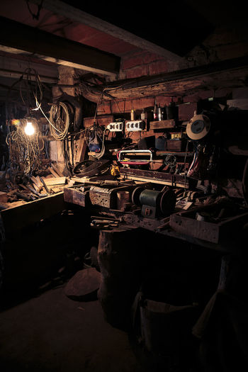 Abandoned Abundance Bad Condition Damaged Destruction Factory Indoors  Large Group Of Objects Light And Shadow Log Messy Metal Obsolete Old Ruined Stack Studying Transportation Vintage Wokshop Wood Wood Wood - Material Working Working