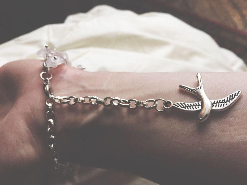 Handmade Jewellery Handcraft Jewelry Bracelet Rose Stone Swallow