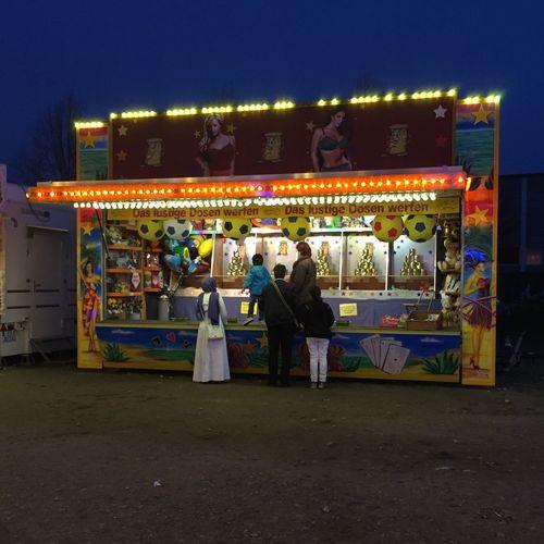 Volksfest Hasenbergl; April 2015 Fair Munich Germany Family Fun Night IPhoneography Hasenbergl