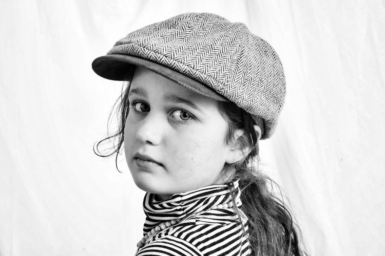 Girl from Cologne - 8 years old with her favorite outfit, photo session at studio. 8 Year Old Black & White Cologne Girl Power Studio Black And White Blackandwhite Blackandwhite Photography Cap Confident  Female Female Model Girl Girlie Girly Maiden Model Modeling Monochrome Portrait Portrait Photography Portraiture Schoolgirls Studio Shot White Background