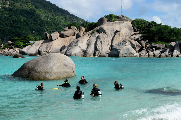 Adventure Beauty Blue Sea Day Divers Diving Mountains And Sea Outdoors People Rock - Object Rocks Scuba Diving Sea Sport Travel Addict Travel Destinations Tropical Paradise Vacations Wanderlust Water My Year My View Finding New Frontiers Miles Away