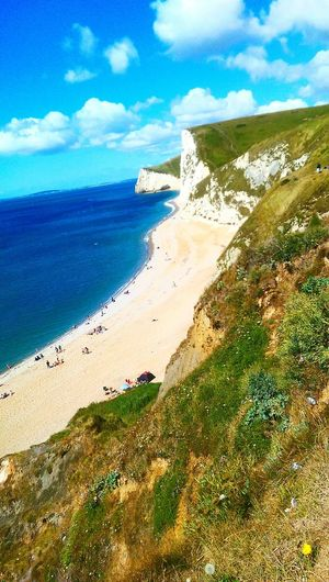 Coastline Landscape Cliffs Sand Sea View Sea Sea And Sky Hills Beach Clear Water Natural Beauty People Funtimes Englishbeaches Hidden Beauty Relax Htc One M8