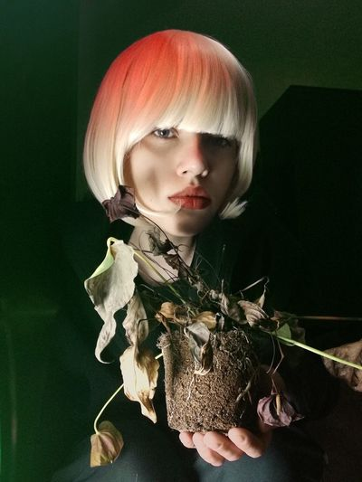 Delirium HUAWEI Photo Award: After Dark Portrait Blond Hair Young Women Child Doll Looking At Camera Black Color Close-up