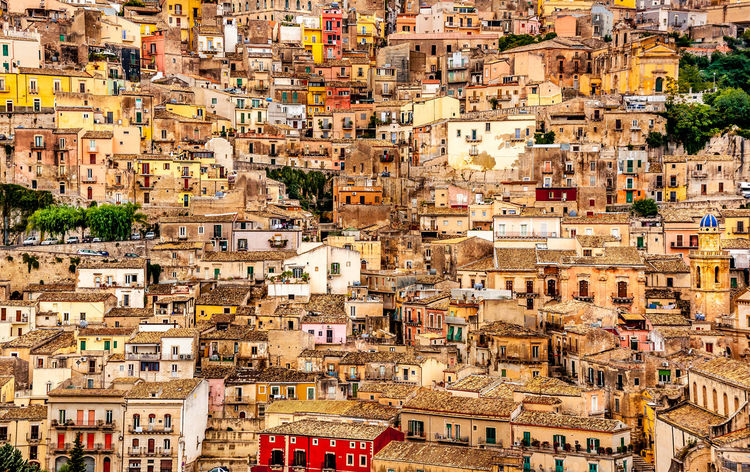 Architecture Building Exterior Built Structure Busy Caos City Cityscape Colourful Concentration Dense Elevated View No People Outdoors Residential Building Residential District Residential Structure Sicily Sicily ❤️❤️❤️ Town TOWNSCAPE Colour Of Life