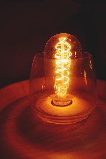 Close-up Electricity  Filament Filament Bulb Filament Light FilamentousArt Filaments Illuminated Indoors  Lamp Light Bulb Lighting Equipment No People Technology