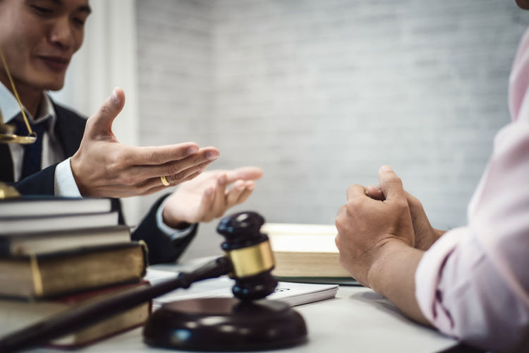 Two male lawyer