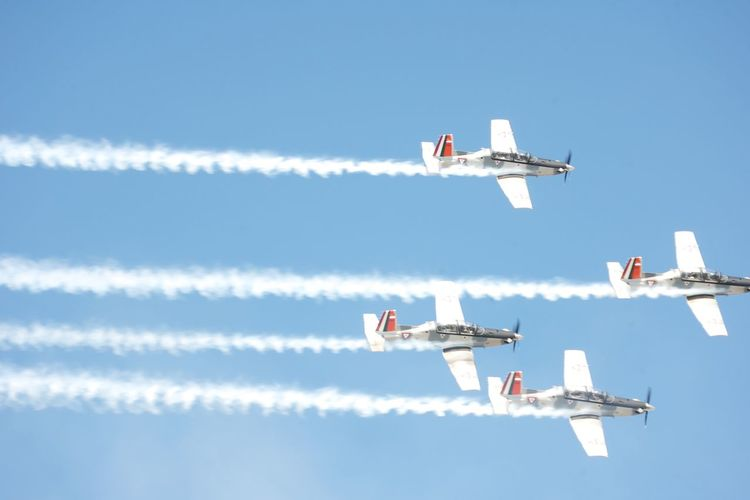 Airplane Air Vehicle Flying Sky Airshow Plane Teamwork Aerobatics Day Acrobatic Activity Fuerza Aerea Mexicana