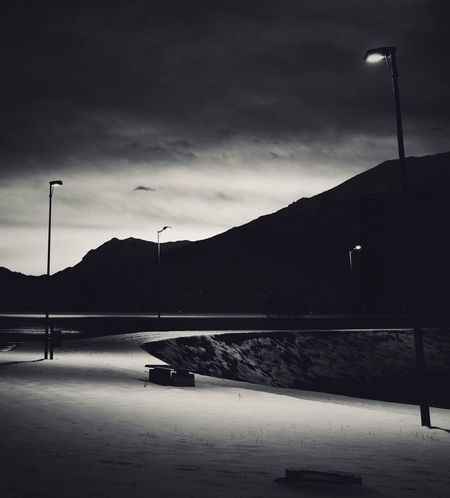 Night Lago Di Como, Italy Lago Di Como Italy Blackandwhite Bw Monochrome Monoart Bnw Monotone Nocolor Mountain Outdoors Cloud - Sky No People Nature Sky Storm Cloud Water