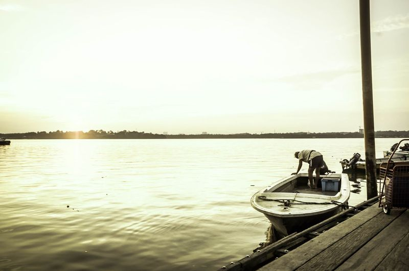 A oldman comes home after a day of hardwork Check This Out First Eyeem Photo Lim Chu Kang Jetty