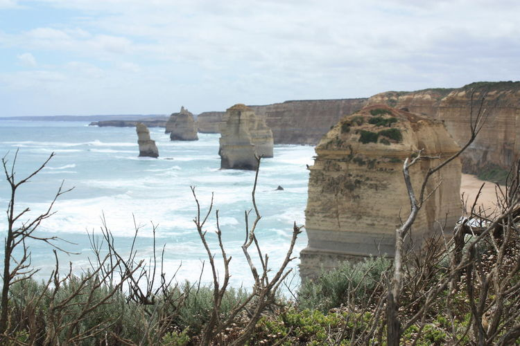 The Twelve Apostles Twelve Apostles Beach Beauty In Nature Cliff Cloud - Sky Day Grass Horizon Over Water Nature No People Outdoors Rock - Object Rock Formation Scenics Sea Sky The Twelve Apostles Tranquil Scene Tranquility Water