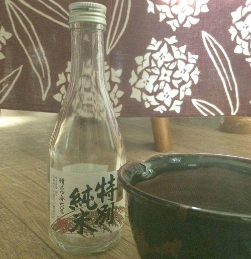 こんばんは 少し早いですが、冷えるので、 #温燗 ( #ぬるかん )をいただきます #お酒 さま #純米酒