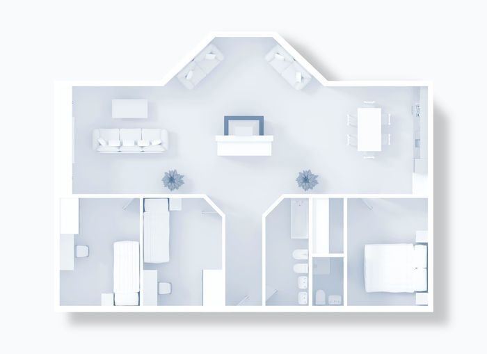 3d render of furnished orthogonal apartment 3d Rendering Apartment Architecture Bathroom Bedroom Blackandwhite Composition Concept Domestic Room Flat Flooring Home Home Interior House Idea Ideas Indoors  Kitchen Livingroom Monochrome Mortgage Negative Space Orthogonal Plan Project Real Estate Real Estate Agency Roofless Sell Simplicity Symbol Wall Wall - Building Feature White