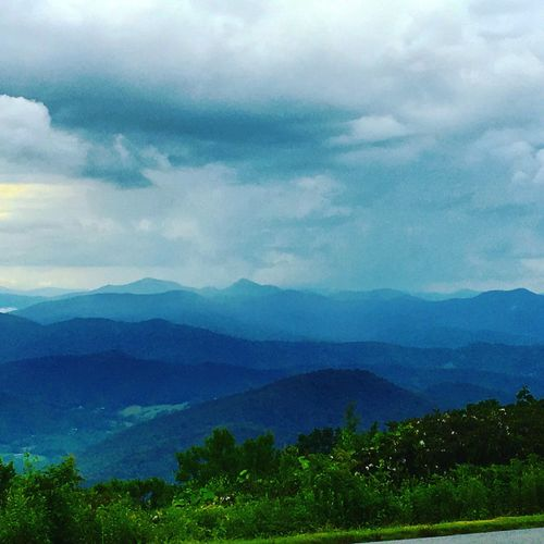 Asheville Blue Ridge Parkway Blue Ridge Mountains Beauty In Nature Tranquil Scene Sky Landscape Mountain Range Outdoors