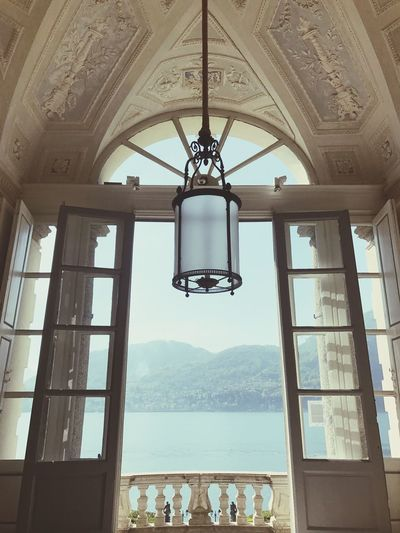 Villacarlotta Tremezzo Comolake Hanging Indoors  Day Ceiling Built Structure Architecture Window Real People Large Group Of People Low Angle View Men Sky People