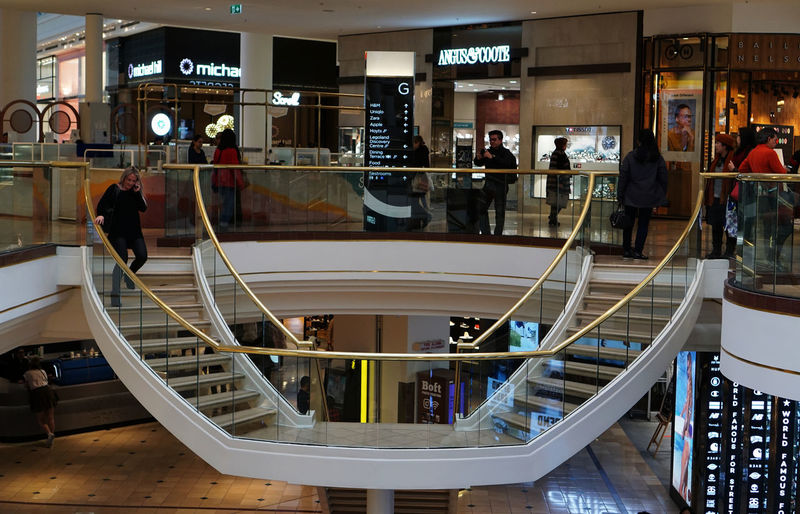 Architecture Australia Going Down Life Style Modern Woman Chadstone Shopping Centre Downstairs Environment Incidental People Men Real People Shopping Centre Staircase Symmetrical Symmetry Women