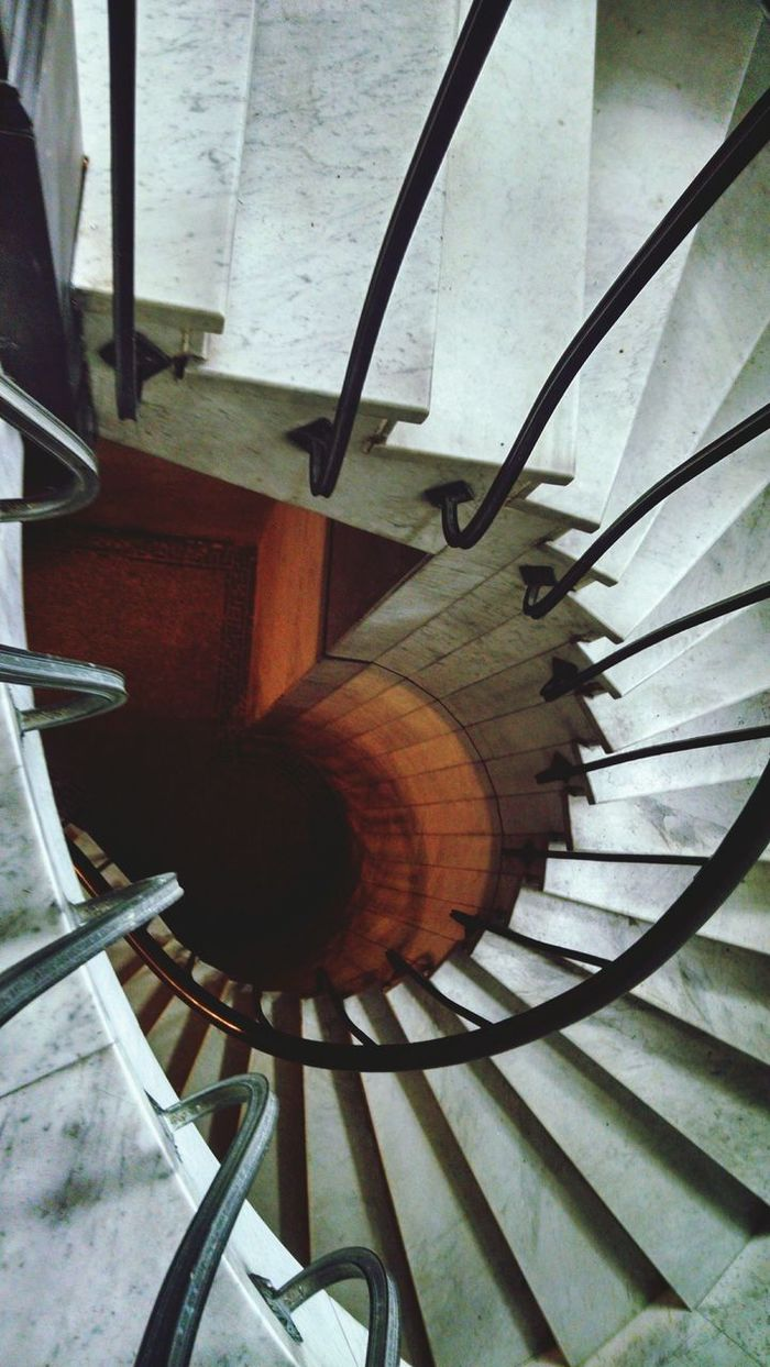 Steps And Staircases Staircase Steps Spiral Staircase Spiral Railing High Angle View
