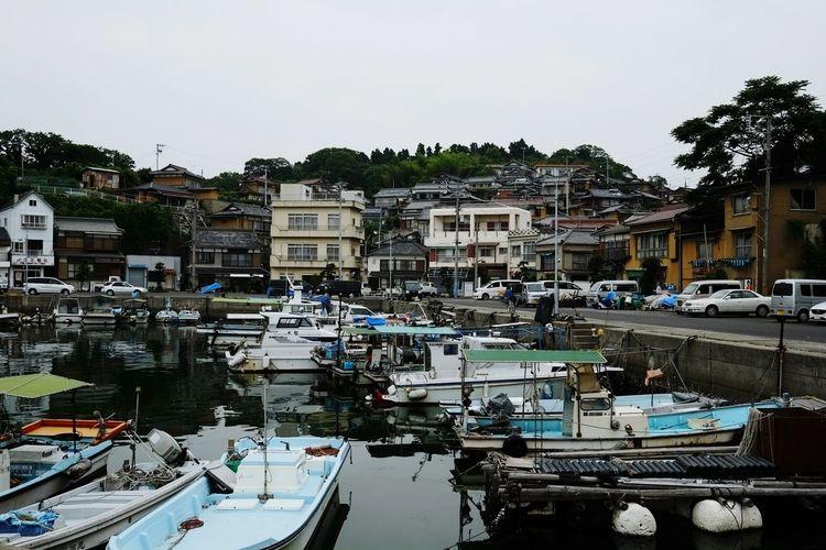 Holiday Trip Island Sea Boats Town Snapshot The Traveler - 2015 EyeEm Awards at kashirajima Japan