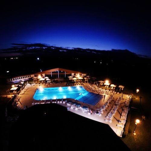 Dronata in piscina al tramonto!!!