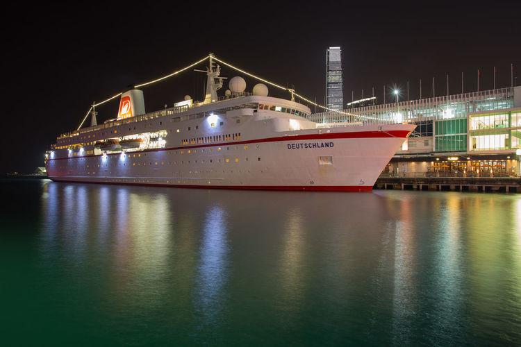 Cruise ship Boat City Cruise Ship Harbor Hong Kong Mode Of Transport Nautical Vessel No People Outdoors Ship Transportation Water Waterfront
