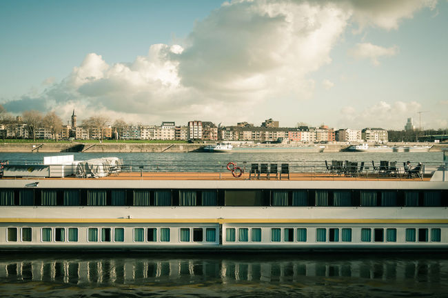 APS-C DSLR Anchored City Life Rhine River River Ship Tourism Travel Water Waterfront