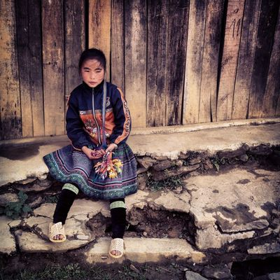 Sa Pa Cutie Kiddy, Cat-Cat village Travelling Vietnam Hmong Kids The Human Condition