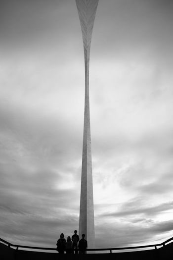 Saint Louis Missouri Saint Louis Arch Cloud - Sky Low Angle View Sky Landmark US Landmark Silhouette Outdoors Streetphotography Blackandwhite Black And White Streetphoto_bw