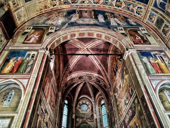 Padova, Aprile 2019 Hdr_Collection Cappella Degli Scrovegni Giotto Interior Art Historical Building Arch Architecture