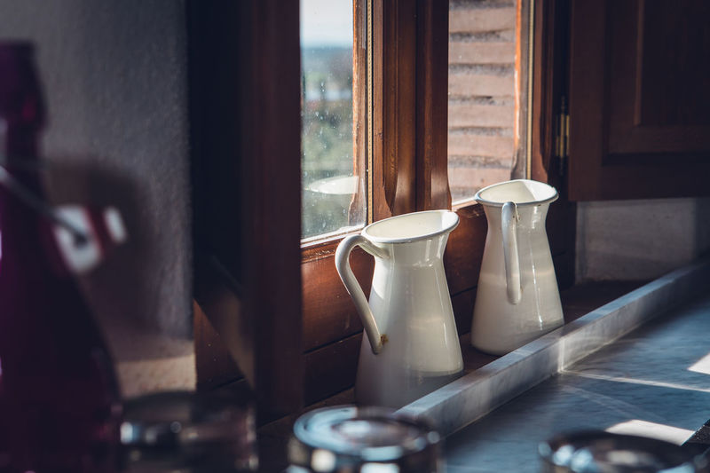 Country Life Cup Drink Glass - Material Home Interior Household Equipment Indoors  Mug No People Old Mik Jug Selective Focus Still Life Sunlight Table Vintage Window The Still Life Photographer - 2018 EyeEm Awards