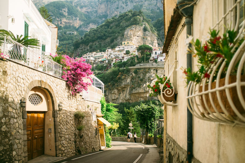 Architecture Building Building Exterior City Day Diminishing Perspective Growth Italy Narrow No People Outdoors Plant Positano Positano, Italy Residential District The Way Forward Town Travel Destinations Vacation