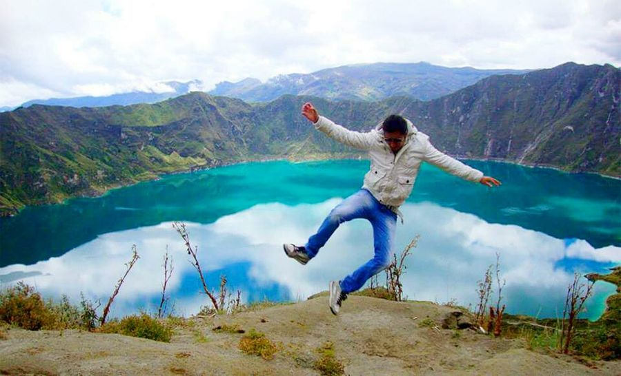 Quilotoa lagoon, Ecuador Edge Of The World Laguna Quilotoa Ecuador Capturing Freedom Jumping Lagoon EyeEm Gallery The Great Outdoors - 2015 EyeEm Awards EyeEm Best Shots What I Value Landscapes With WhiteWall Feel The Journey Adventure Club Hidden Gems  People And Places Miles Away Live For The Story