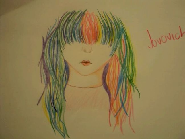ArtWork My Artwork Pencil Colors Hair Rainbow Pencil Drawing Drawing Draw