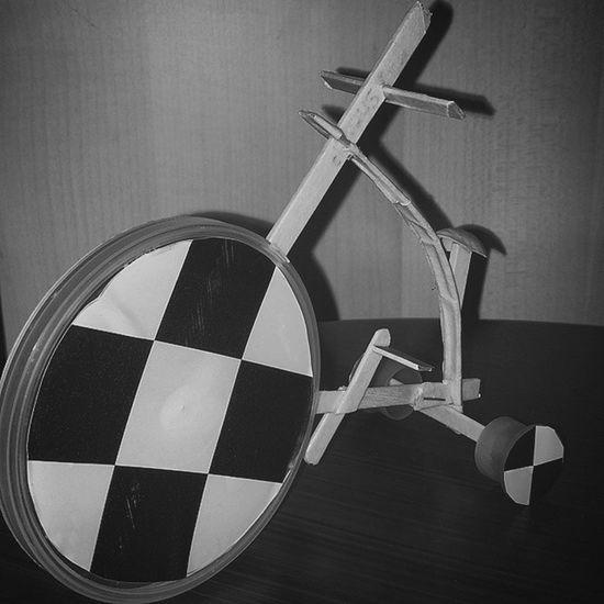 çay çubuklarından Bisiklet Yapmak ... 🍉➡🚣 =🍸➡🚲 Bicycle