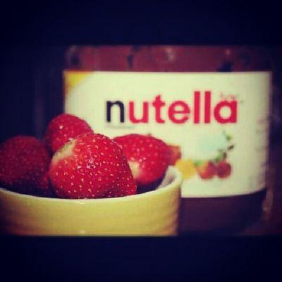 Breakfast :D Nutella Strawberry